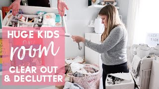 HUGE KIDS ROOM ORGANISE AND DECLUTTER WITH ME