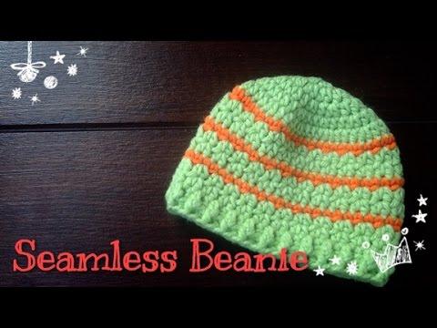 ถักหมวกไหมพรมง่าย ๆ แบบไร้ตะเข็บ (Seamless  beanie)