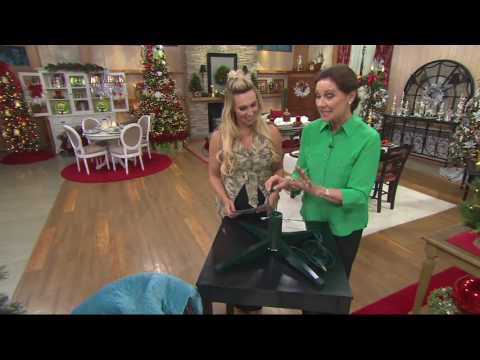 Rotating Artificial Tree Stand by Valerie on QVC