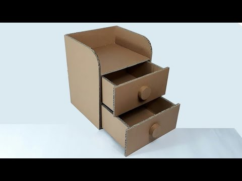 Cara Membuat Laci Dari Kardus Youtube