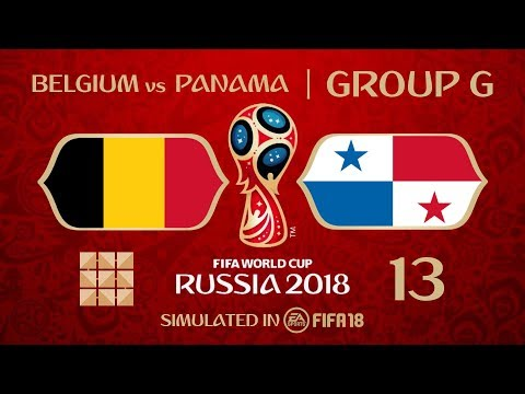 FIFA 18 | Virtual World Cup 2018 Simulation 13 - Belgium Vs Panama | Group G