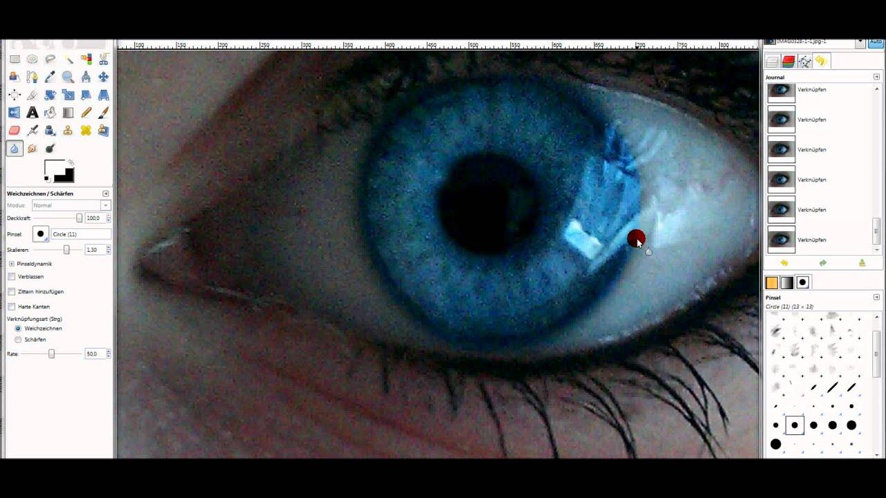 Augenfarbe Bearbeiten