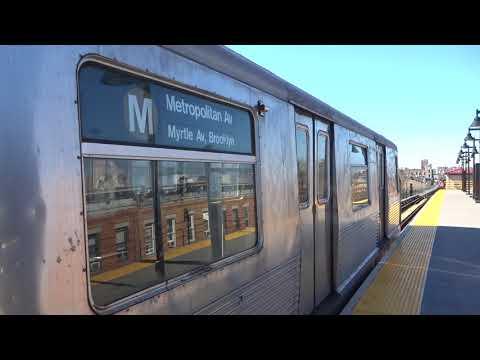 NYC Subway: Metropolitan Avenue-bound R42 (M) Entering & Leaving Seneca Avenue (Track 1)