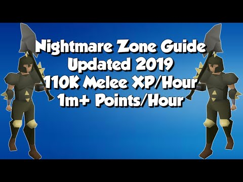Nightmare Zone Guide | 1M+ Points/hr 110K+ Melee XP/HR | Updated 2019