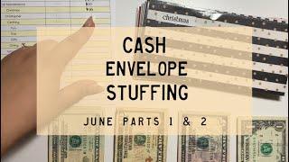 Cash Envelope Stuffing | June Paychecks 1 & 2 | Dave Ramsey Inspired | BudgetWithBri