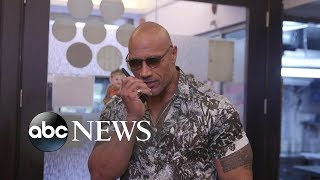 Dwayne 'The Rock' Johnson explores Hong Kong