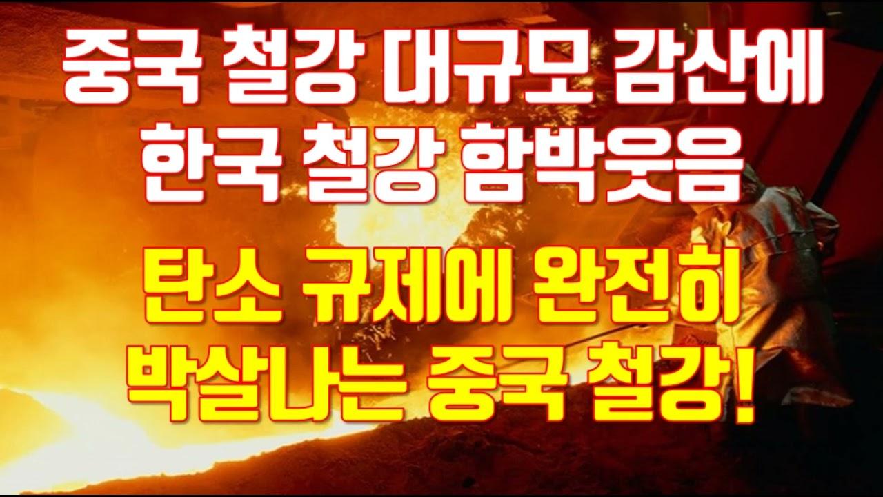 중국 철강 대규모 감산에 한국 철강 함박웃음 탄소 규제에 완전히 박살나는 중국 철강!