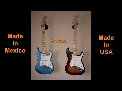 Fender Standard Stratocaster - Made In Mexico vs Made In USA