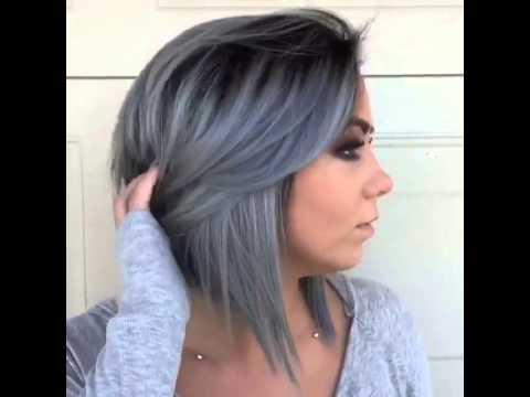 لون شعر رصاصي Youtube
