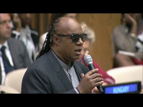 UN Messenger of Peace Stevie Wonder calls on helping those in need