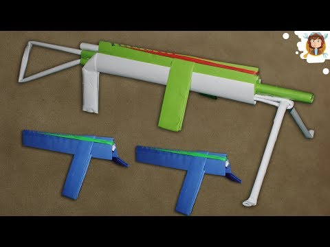 Cómo hacer una Ametralladora de Papel que Dispare 12 Gomas