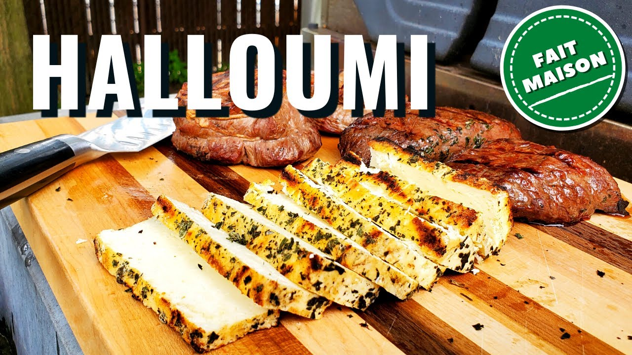 Comment faire le fromage à griller HALLOUMI à la maison (Fromage niveau DÉBUTANT sans ferment!)