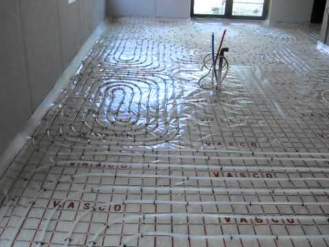 Brati bvba installatie vloerverwarming in Passief huis  YouTube