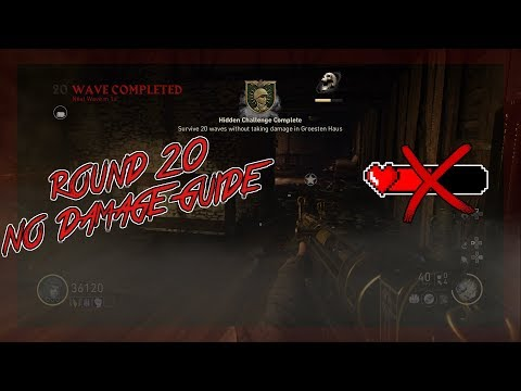 Round 20 No Damage Solo Guide (New Mountaineer Skin) (COD WW2 Zombies)