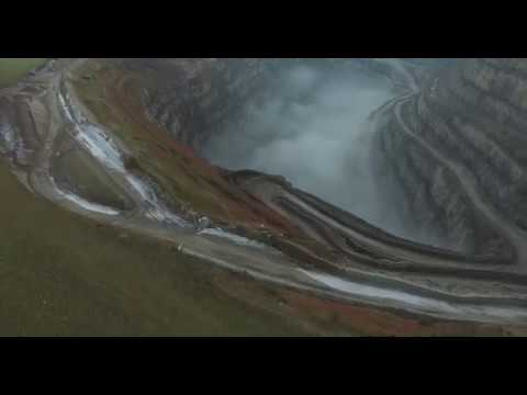 Drone Fly Over Croft Quarry in Leicestershire
