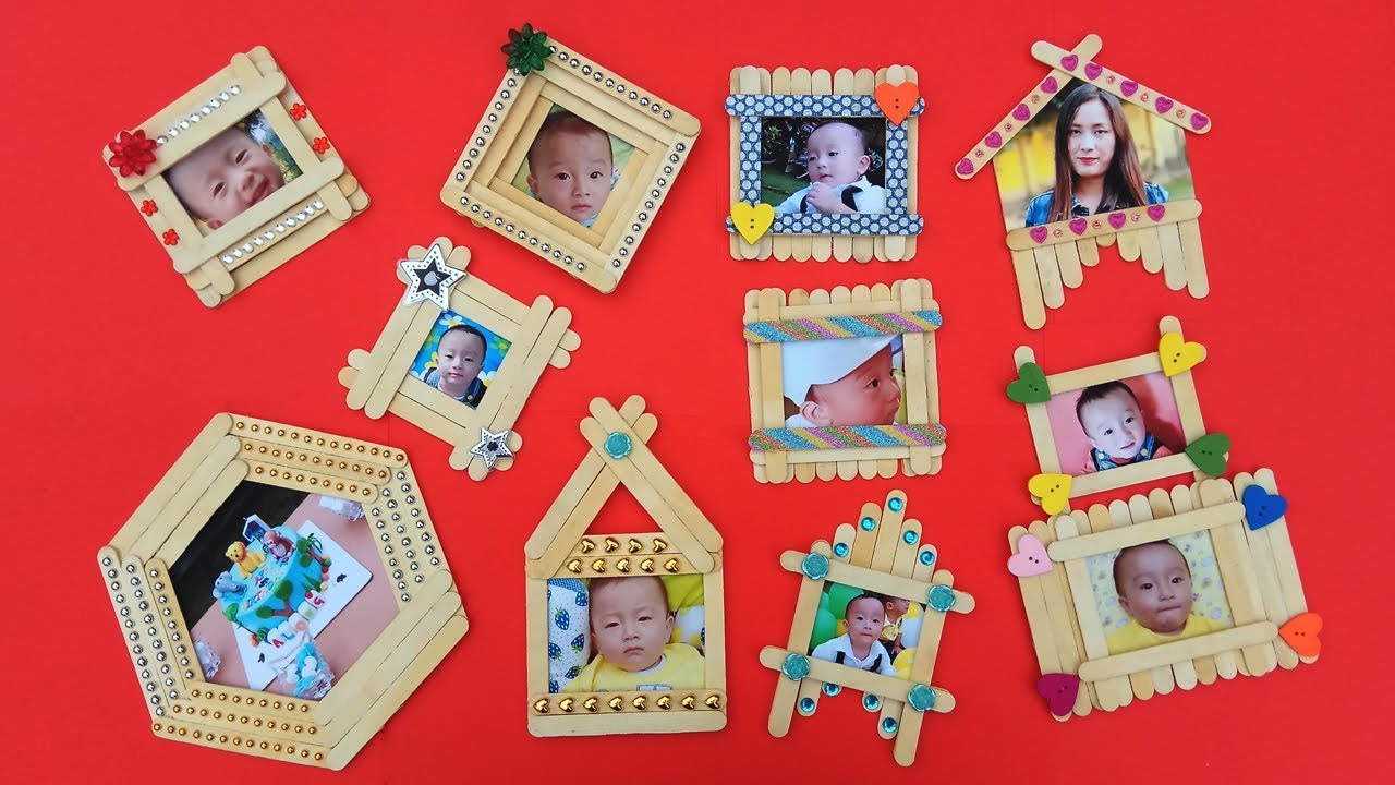 Top 10 Diy Popsicle Stick Photo Frame Compilation