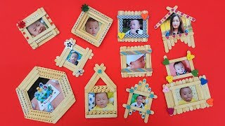 Top 10 DIY Popsicle Stick Photo Frame Compilation | Popsicle Stick Craft Ideas | Home Decor