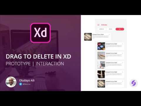 Drag to delete in Adobe XD | Interaction in Adobe XD | Adobe XD Tutorial