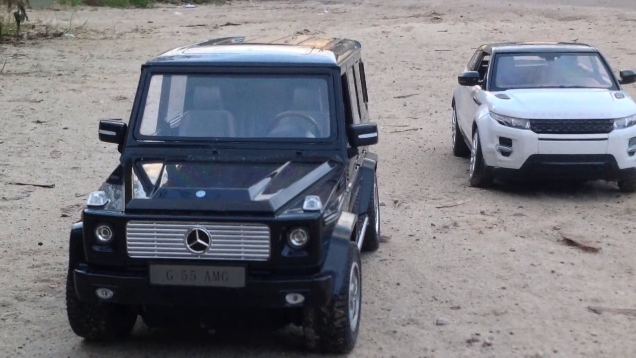 ... HIKING №10 rc mersedes-benz G-WAGEN and range rover evoque - YouTube