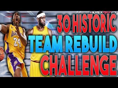 NBA 2K17 MY LEAGUE: 30 TEAM HISTORIC REBUILD CHALLENGE!!!