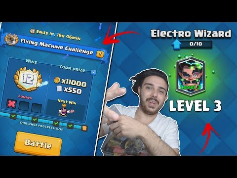 AM FACUT ELECTRO WIZARD LA LEVEL 3 !! Clash Royale Romania !