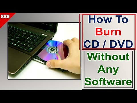 How to burn a CD/DVD in Windows 10 ,8,7 2019 #ftcp,#pbssd