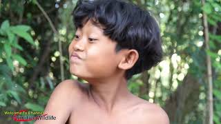 Primitive Technology   Cacth snakes in wild   Cooking eating delicious