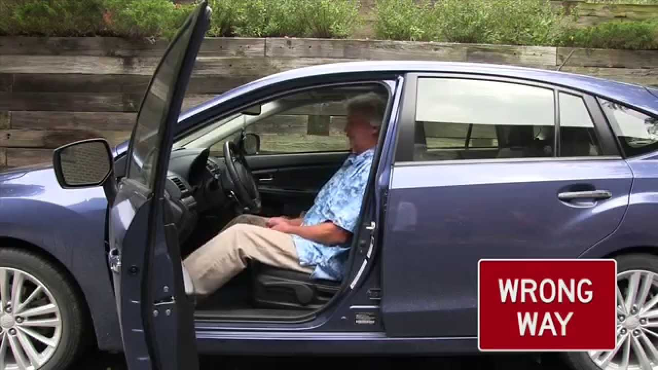 Proper Way To Get In And Out Of Car