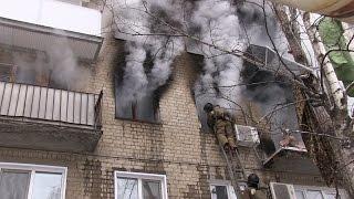 Саратов. Взрыв газа и пожар в многоэтажке. Московское шоссе