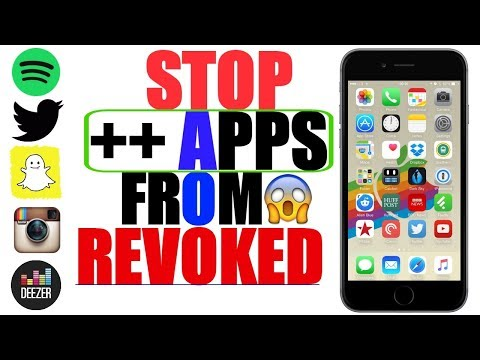 iOS 11/ iOS 9-10 3 3: STOP ALL ++ APPS FROM REVOKED/CRASH_ Spotify ++,  Snapchat ++, Deezer ++ & MORE