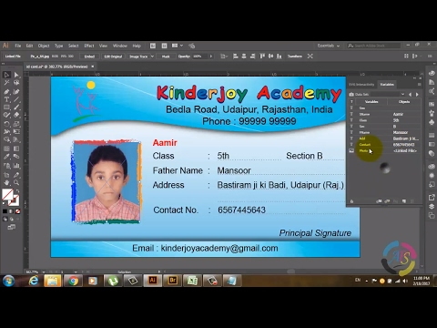 How to Create Photo ID Card in Illustrator Using Variable-Part 1