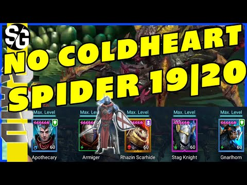 RAID SHADOW LEGENDS   SPIDER 19 & 20 ARMIGER   NO COLDHEART