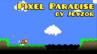 geometry dash pixel paradise by jeyzor harder 3 coins
