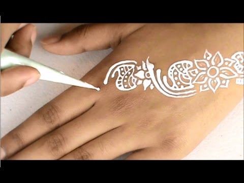 eid quotwhite hennaquot design for beginners by shahema youtube