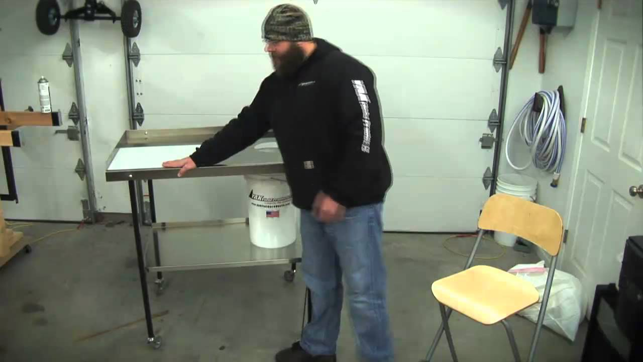 The Ultimate Fish And Game Cleaning Stainless Steel Table!   YouTube
