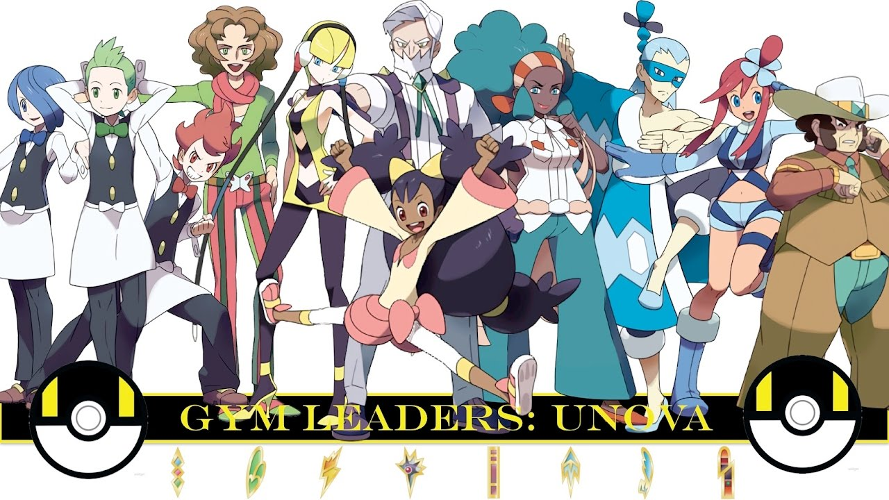 pokemon gym leaders unova bampw youtube