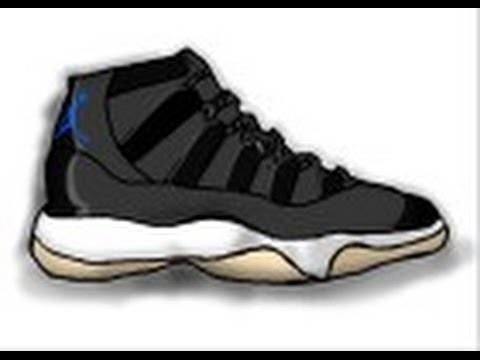 All Micheal Jordan Shoes Cartoon