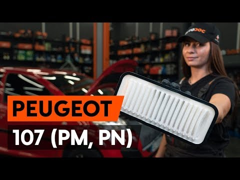 How to replace air filter on PEUGEOT 107 1 (PM, PN) [TUTORIAL AUTODOC]
