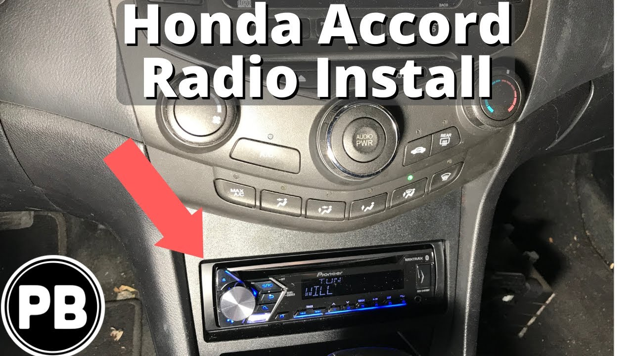 2003 2007 Honda Accord New Bluetooth Radio Install Youtube Hvac Wiring Diagram For 2004 Lx