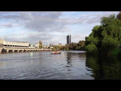 Rowing on the Yarra River in South Yarra Melbourne