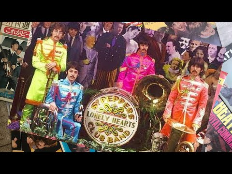 ♫ The Beatles the cover photographs for Sgt Pepper
