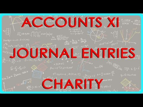 523.Accounts XI - Journal entries - Charity
