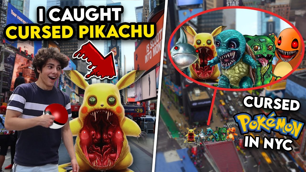 DRONE CATCHES CURSED POKÉMON IN NEW YORK CITY!! (I CAUGHT CURSED PIKACHU IN REAL LIFE)