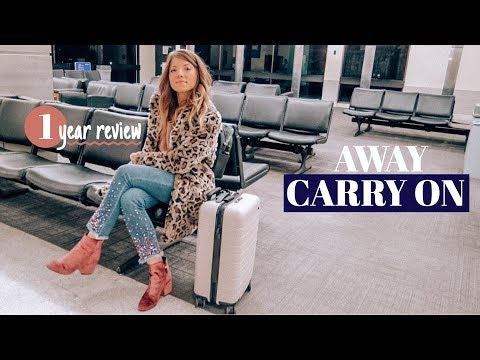 1 YEAR WITH MY AWAY CARRY ON  review + promo code!