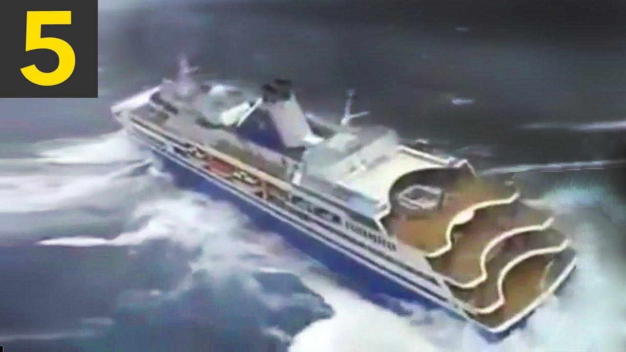 Top 5 Cruise Ships in Heavy Seas - YouTube