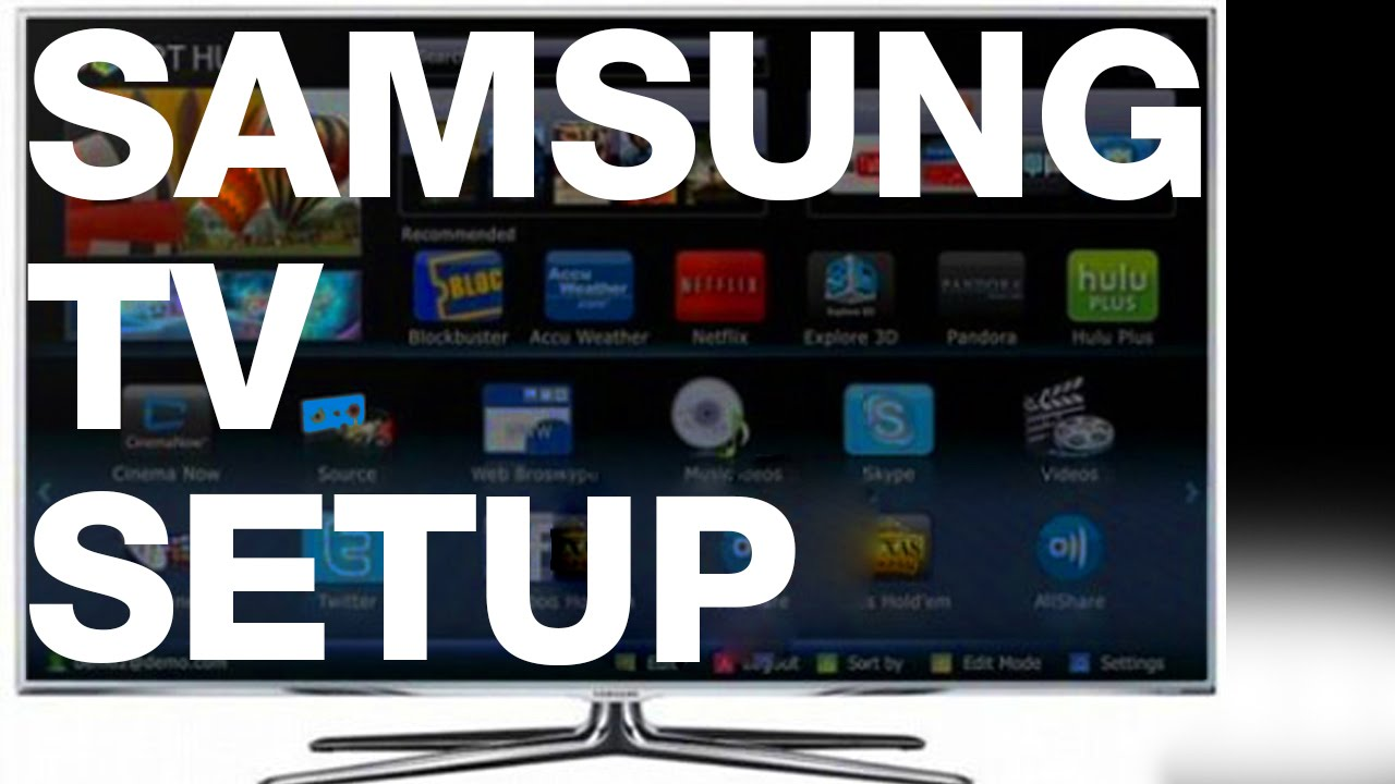 samsung smart tv turning on for the first time setup guide manual [ 1280 x 720 Pixel ]