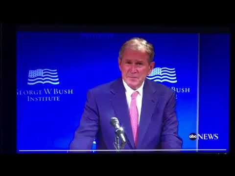 George W Bush Says Bigotry, White Supremacy Against American Creed
