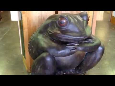 Kim Kori sculpture, Original bronze frog statue from our antiques mall at Gannon's Antiques & Art