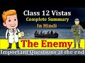 The Enemy Important Questions Vistas Pearl S Buck Class 12th In Hindi mp3