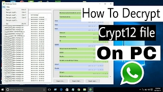 How to Decrypt WhatsApp Crypt12 Files On Your PC